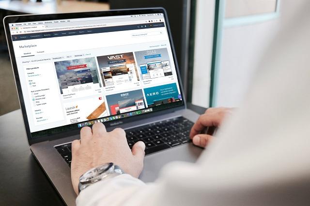 Ecommerce en un ordenador portátil
